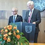 Landrat Wolff und Regierungspräsident Reimer