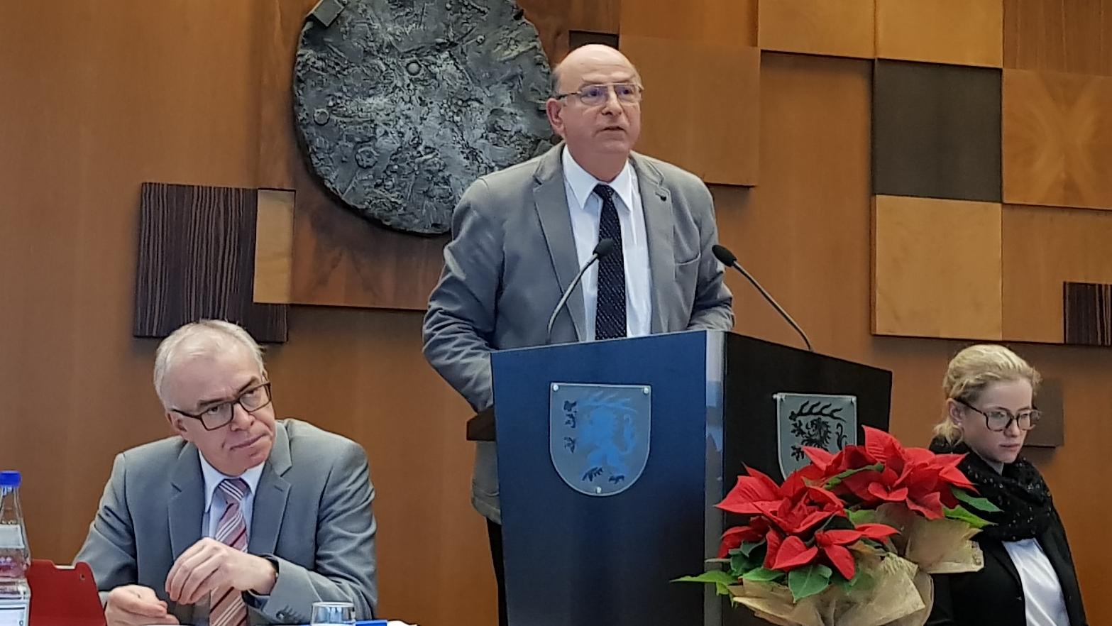Werner Stöckle am Rednerpult