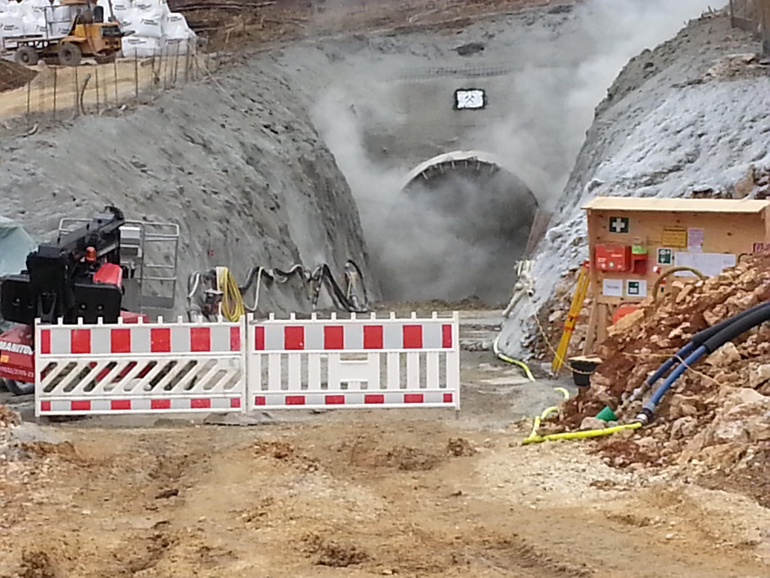 Tunnel-Sprengung